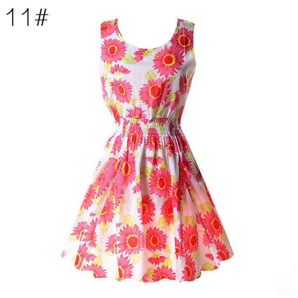 NEW 22 Floral Colors Tank Sleeveless Shirt Dress - Scruffy Chic
