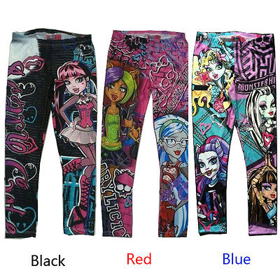 Punk Style Kids Children Monster Girls Leggings - Scruffy Chic