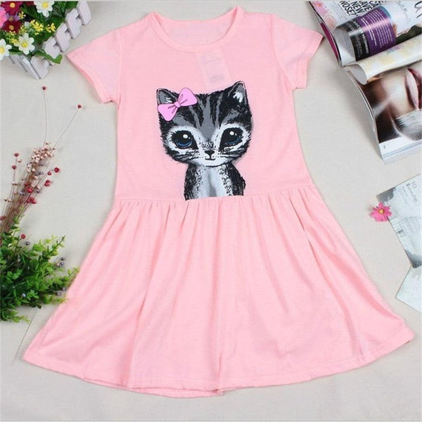 Little Girls Baby Kitty Cat Girls Dress - Scruffy Chic
