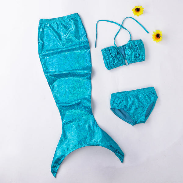 A Little Mermaid Tail Girls Swimsuit Costume Set Mermaid Outfit - Scruffy Chic