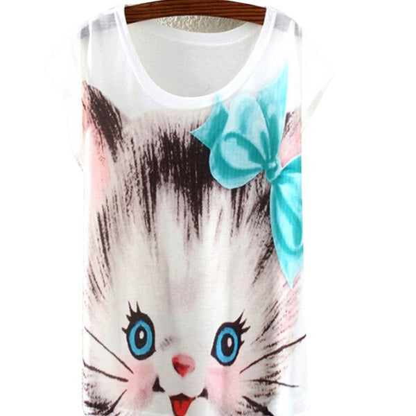Kids Owl Tee Shirts Cat Tops Bunny Rabbit Tops - Scruffy Chic