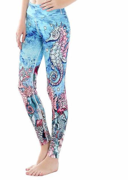 Seahorse Leggings Sea Horse Leggings Ocean Style Leggings - Scruffy Chic