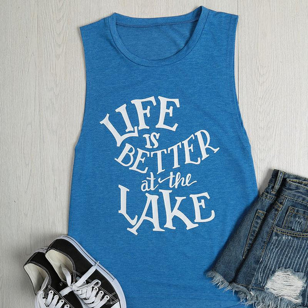 Life is Better at the Lake T-Shirt Tank Top - Scruffy Chic