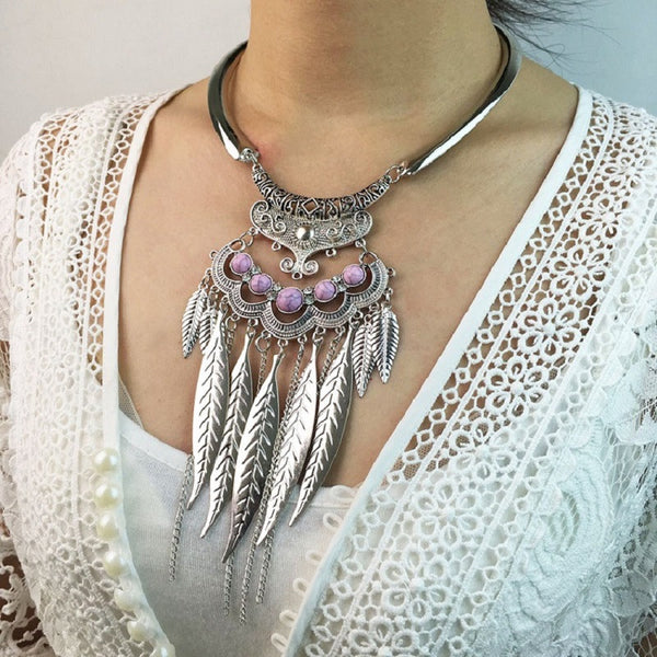 Big Bohemian Gypsy Necklace - Scruffy Chic