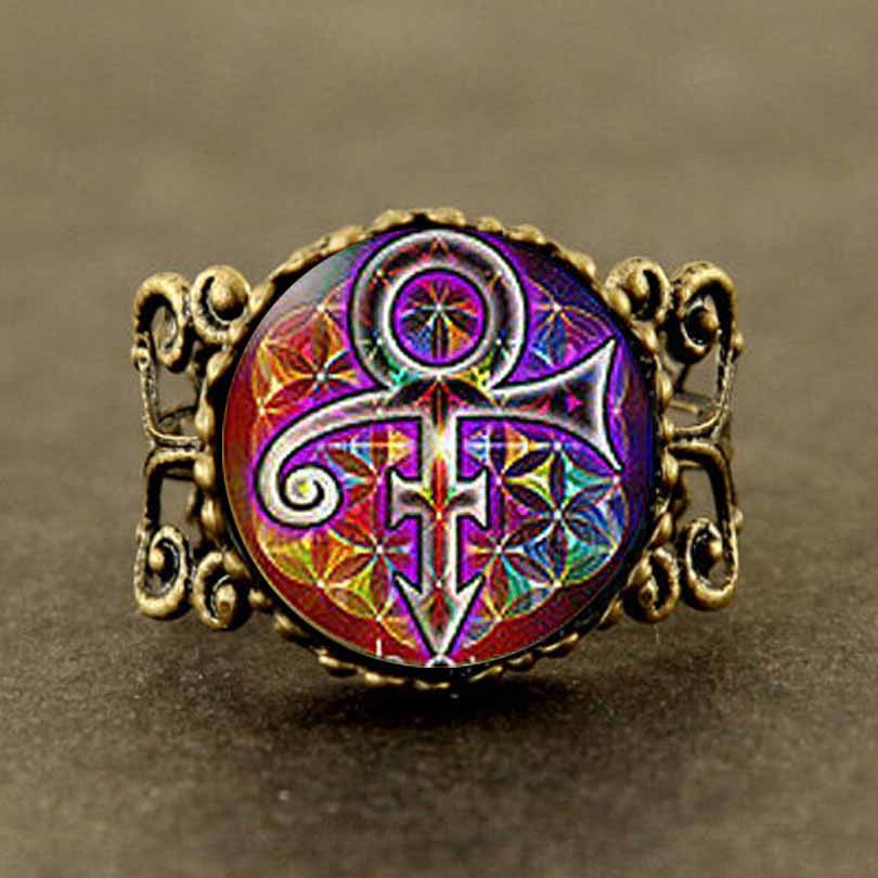 Prince Rainbow Ring Prince RIP Memorial Ring Jewelry Gift Collectible - Scruffy Chic