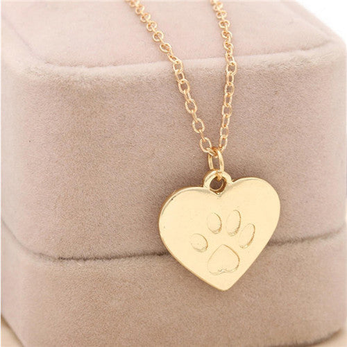 Cat Dog Paw Print Pet Animal Pendant Charm Necklace - Scruffy Chic