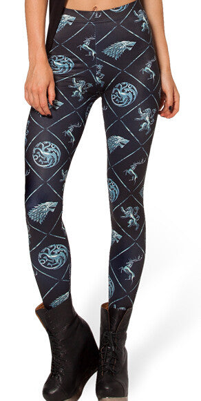 Gothic Dragon Leggings - Unicorn Leggings - Scruffy Chic