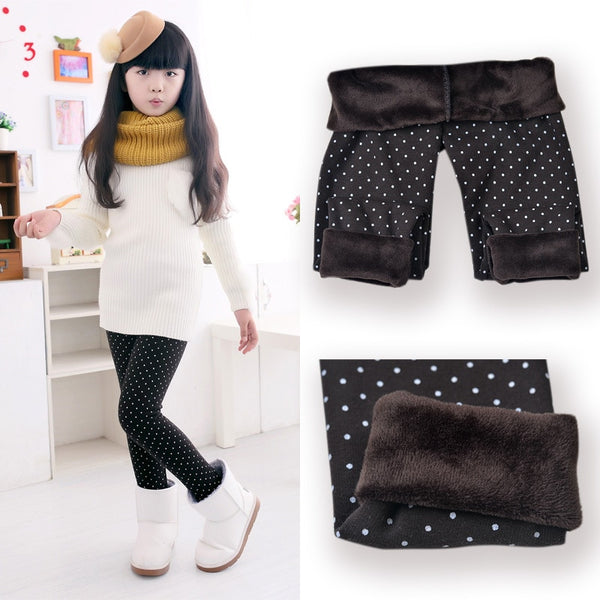 Little Girls Polka Dot Leggings Children's Legging Kids Pants