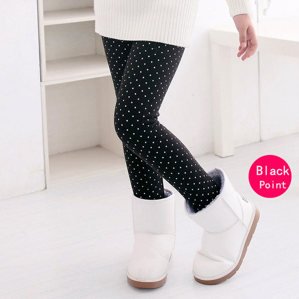 Little Girls Polka Dot Leggings Children's Legging Kids Pants - Scruffy Chic