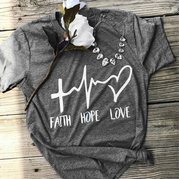 Faith Hope Love T Shirt Tee Shirt - Scruffy Chic