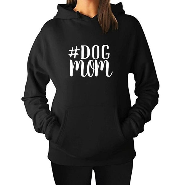 # DOG MOM Shirt Hoodie #DOGMOM Sweatshirt - Scruffy Chic