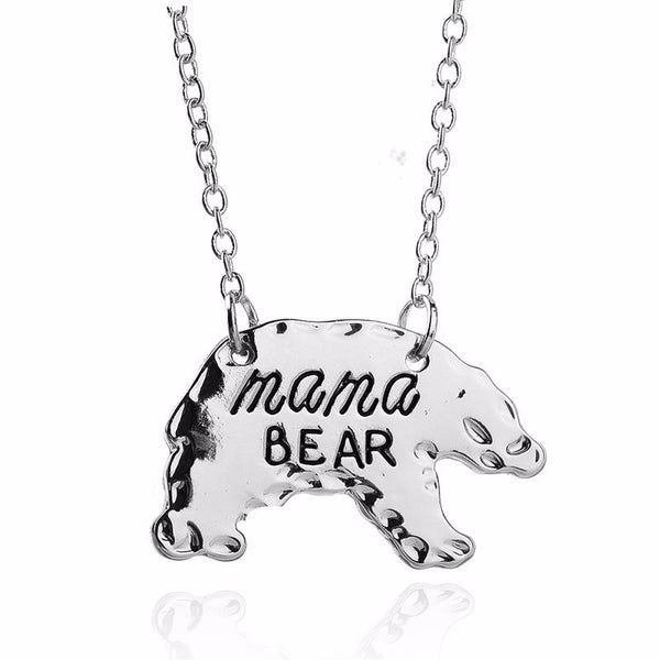 Mama Bear Pendant Necklace Gift For Mom Fashion Jewelry - Scruffy Chic