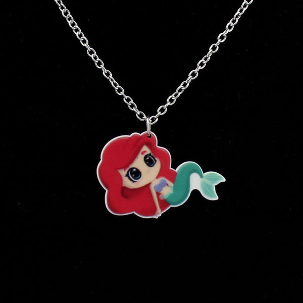 Cute Little Mermaid Necklace - Scruffy Chic