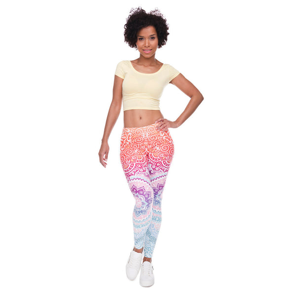Aztec Leggings Ombre Leggings  Pants - Scruffy Chic