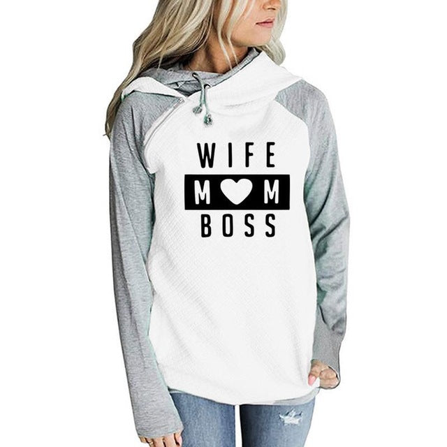 WIFE MOM BOSS Sweatshirt Wife Mom Boss Hoodie - Scruffy Chic