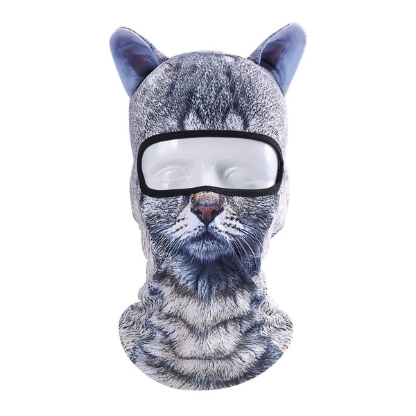 Cat Dog Ears Ski Mask Bicycle Cycling Motorcycle Full Cosplay Face Mask Kids Women Men - Scruffy Chic