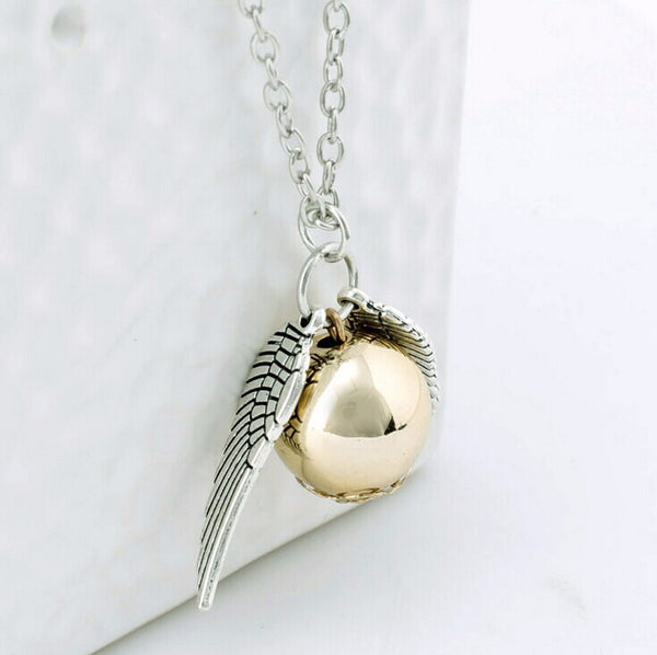 Harry Potter HP Snitch Deathly Hallows Pendant necklace - Scruffy Chic