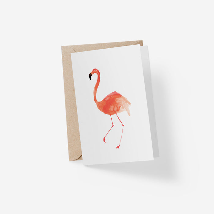 Flamingo Folded Card