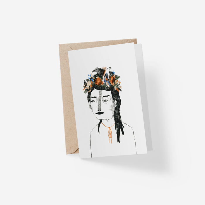 Coiffure Florale Folded Card