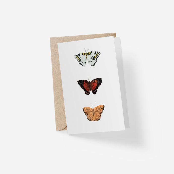Trois Papillons Folded Card
