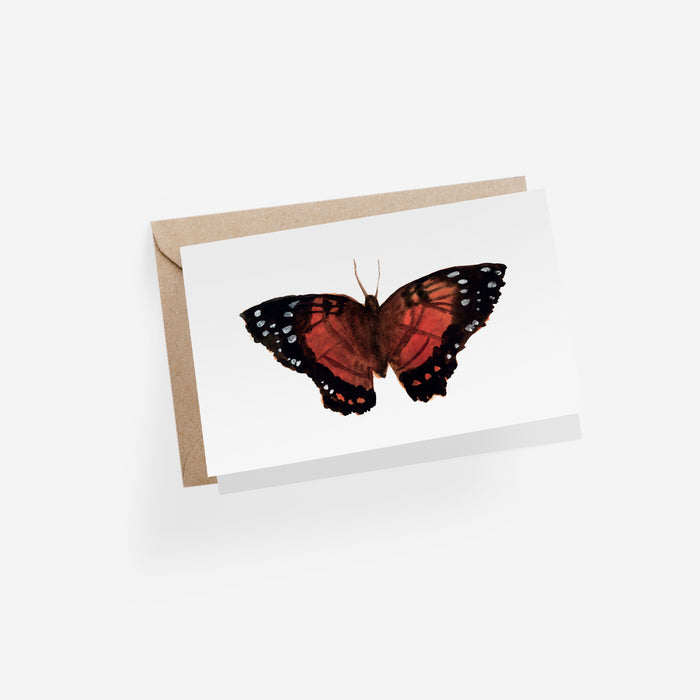Papillon Rouge Folded Card
