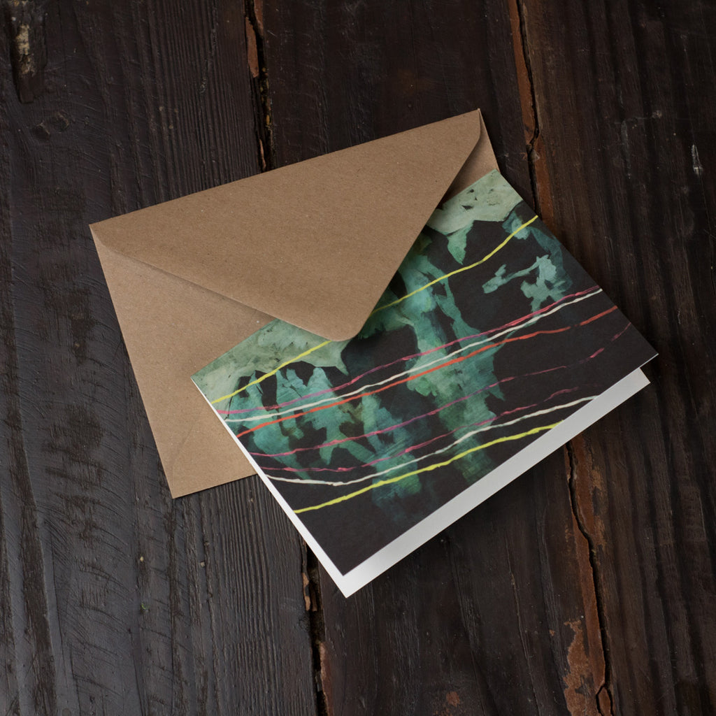 Montagnes Folded Card