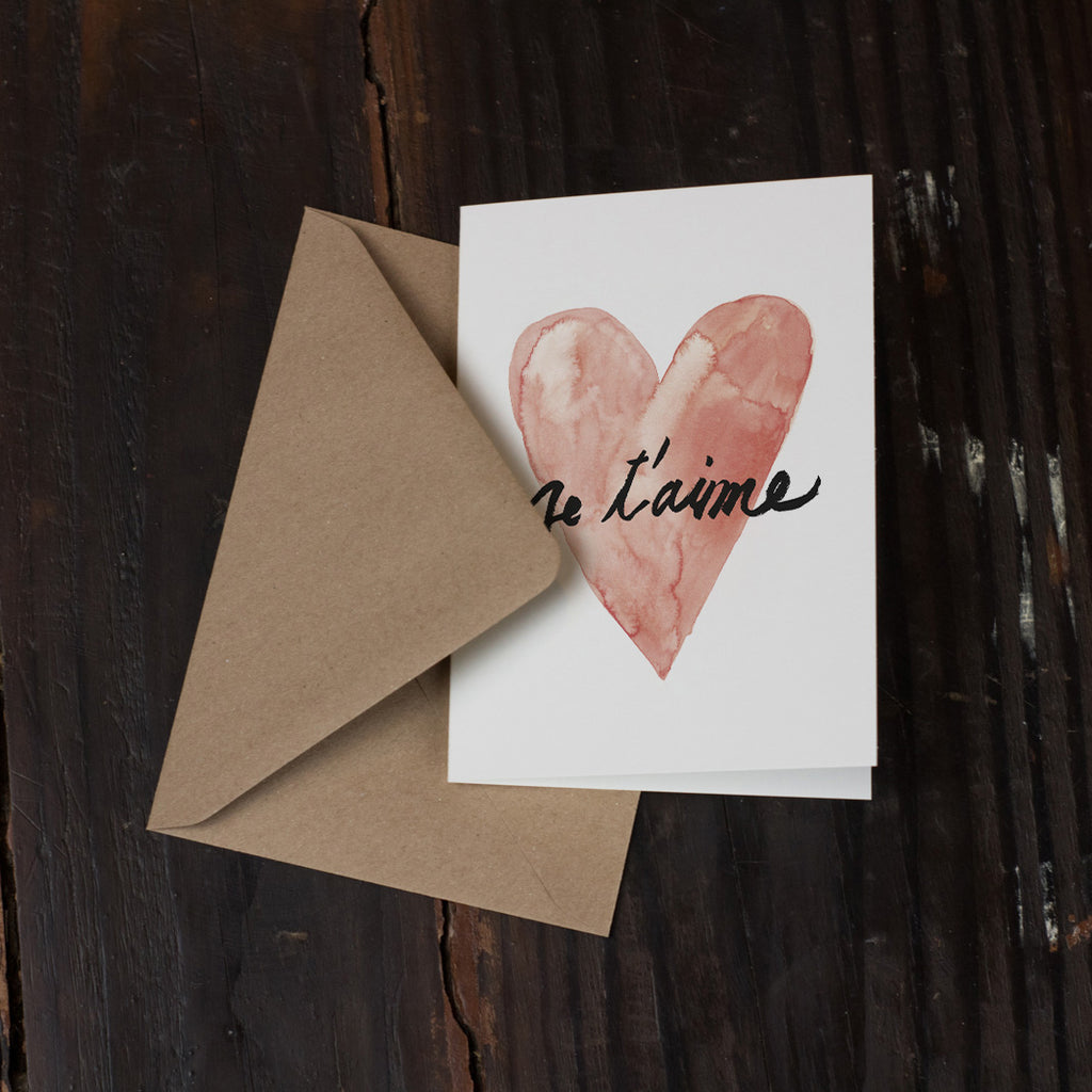 Je t'aime Folded Card