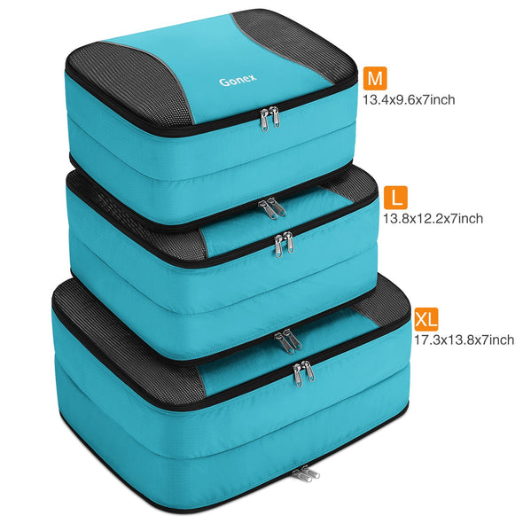 Gonex Double Sided Packing Cubes Travel Suitcase