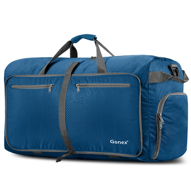 Gonex 100L Foldable Weekender Bag Large Capacity Water Resistant Duffel Bag