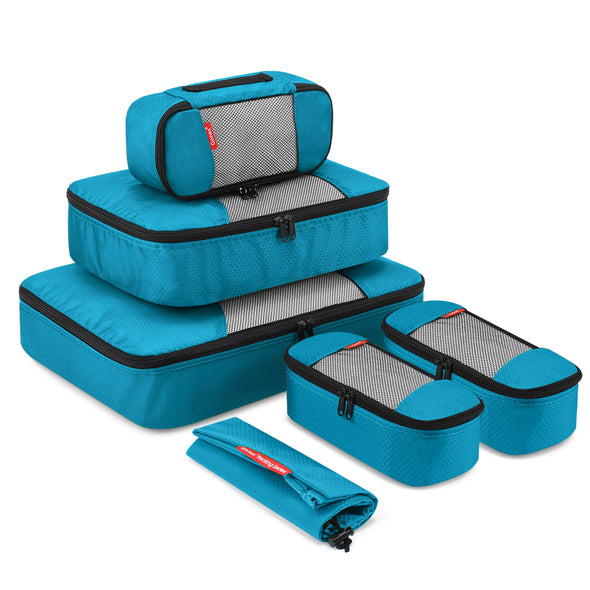 Gonex Packing Cubes Luggage Travel Organizers L+M+3XS+Laundry Bag