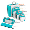 Gonex Compression Packing Cubes, 6Set Mesh Organizers L+M+S+XS+Slim+Laundry Bag