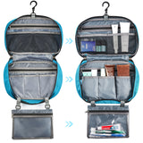 "Toiletry Organizer, Gonex Hanging Travel Toiletry Bag Nylon Bathroom Organizer 8""x13"" Zippered Closure"
