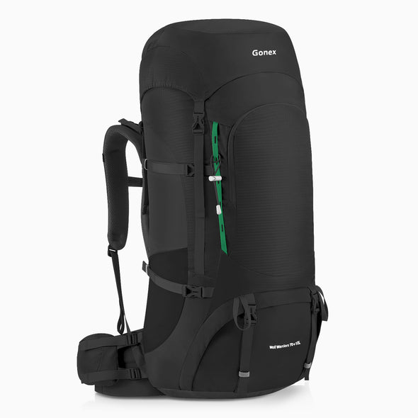 GONEX 70+10L Outdoor Hiking Backpack With Braided Belt