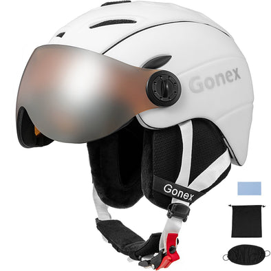 Gonex ASTM Certified Ski Helmet with Goggles - M/L/XL Size