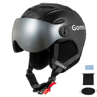 Gonex ASTM Certified Ski Helmet with Goggles - S Size