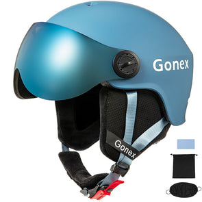 Gonex ASTM Certified Ski Helmet with Detachable Goggles - S/M/L Size