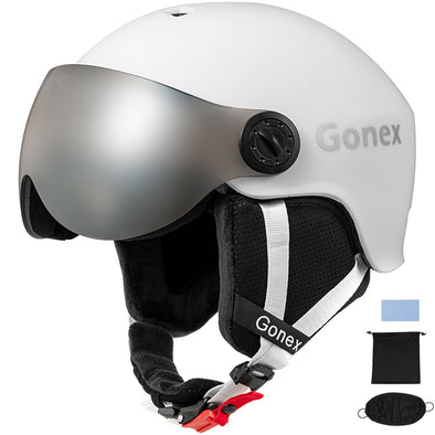 Gonex ASTM Certified Ski Helmet with Detachable Goggles - M/L Size