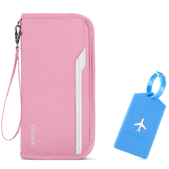 Gonex YKK Zipper Passport Holder Travel Wallet
