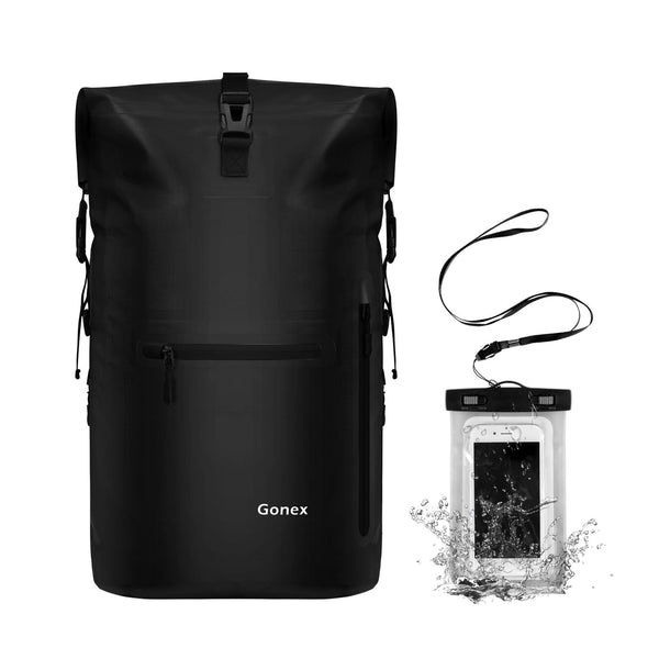 Gonex 35L Waterproof Travel Roll Top Backpack