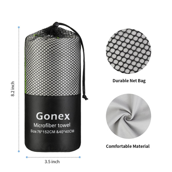 Gonex Microfiber Super Absorbent Towel Set