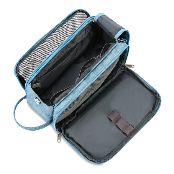 Gonex Dual-Way Zippers Travel Toiletry Bag