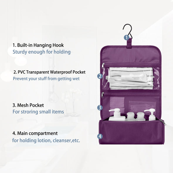 Gonex Adjustable Roll-up Toiletry Bag