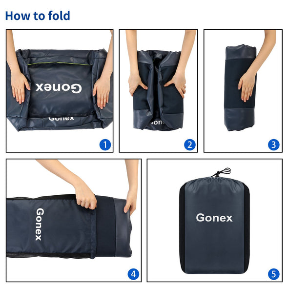 Gonex 60L Weekender Bag Waterproof Duffle Holdall Bag Convertible Backpack