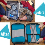 Gonex Packing Cubes Luggage Travel Organizers L+M+2Slim+Laundry Bag