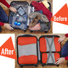 Gonex Packing Cubes Luggage Travel Organizers L+2S+Slim+Laundry Bag