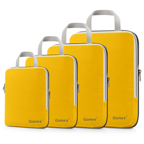 Gonex Compression Packing Cubes Set, Expandable Packing Organizers 4pcs