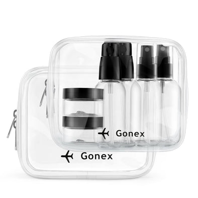 Gonex Clear Toiletry Bag Airlines Kit with Liquids Bottles