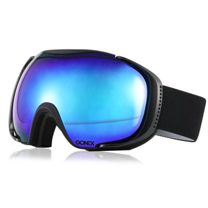Gonex Polarized Oversized Double Spherical Lens Ski Goggles with Goggle Case