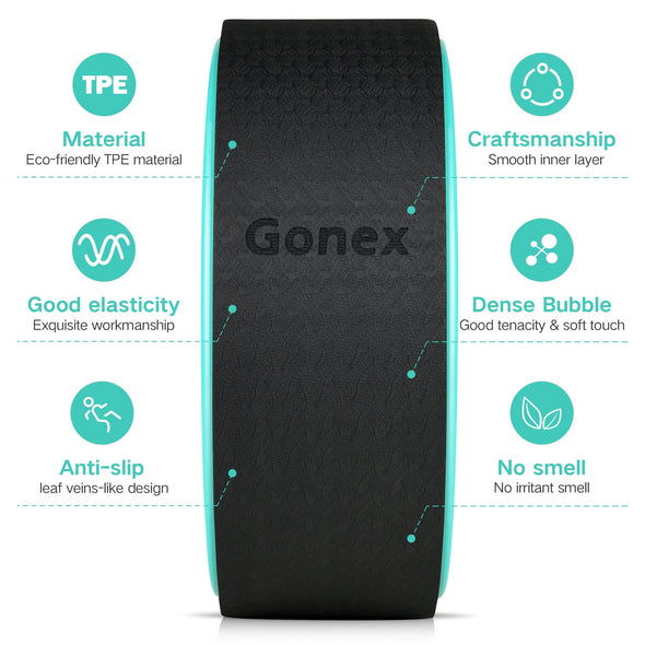 Gonex 13 Inch Yoga Wheel for Back Pain Stretching