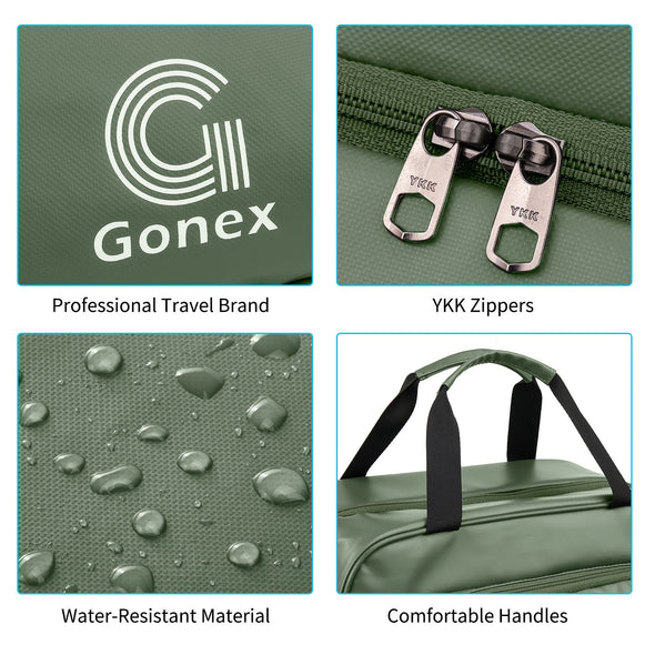 Gonex Large Cosmetic Makeup Organizer Toiletries Bag with Hanging Hook